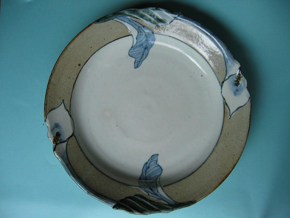 カラー紋八寸皿